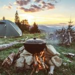 materiel camping ete douche baterrie solaire