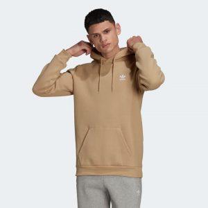 Sweet shirt homme capuche daim marron camel