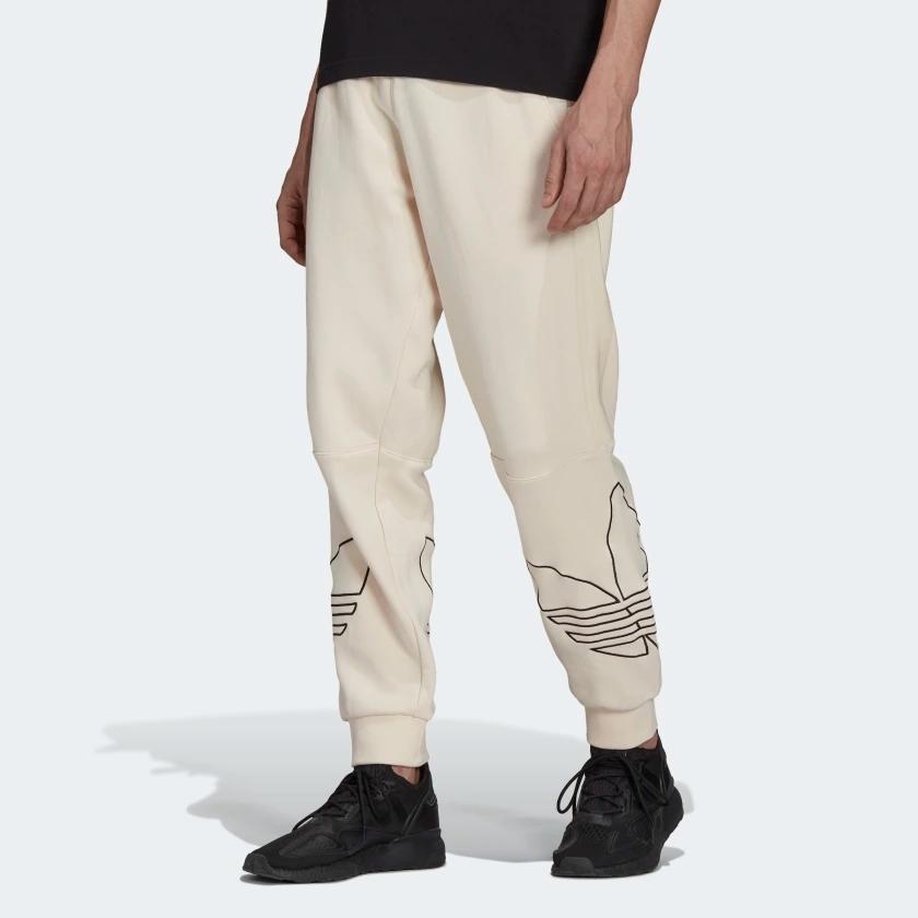 pantalon jogging homme classe design beige creme blanc casse