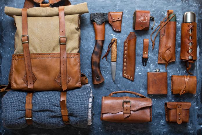 sac a dos tissus cuir vintage voyage