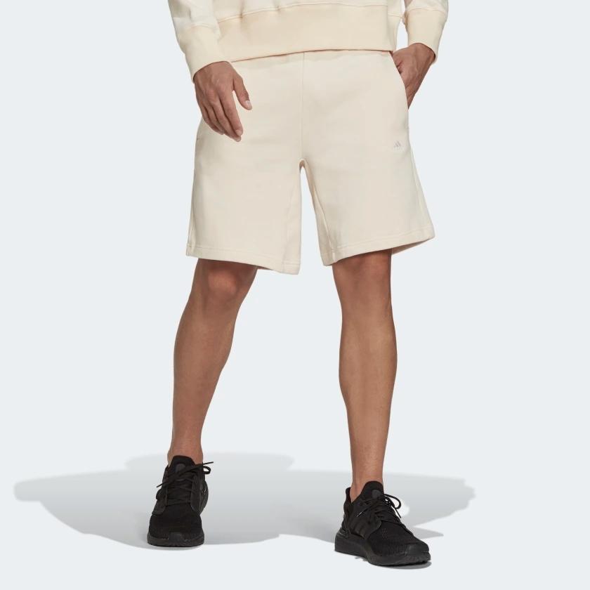 short homme clair blanc casse creme beige