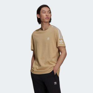 t shirt homme ete adidas camel marron beige clair