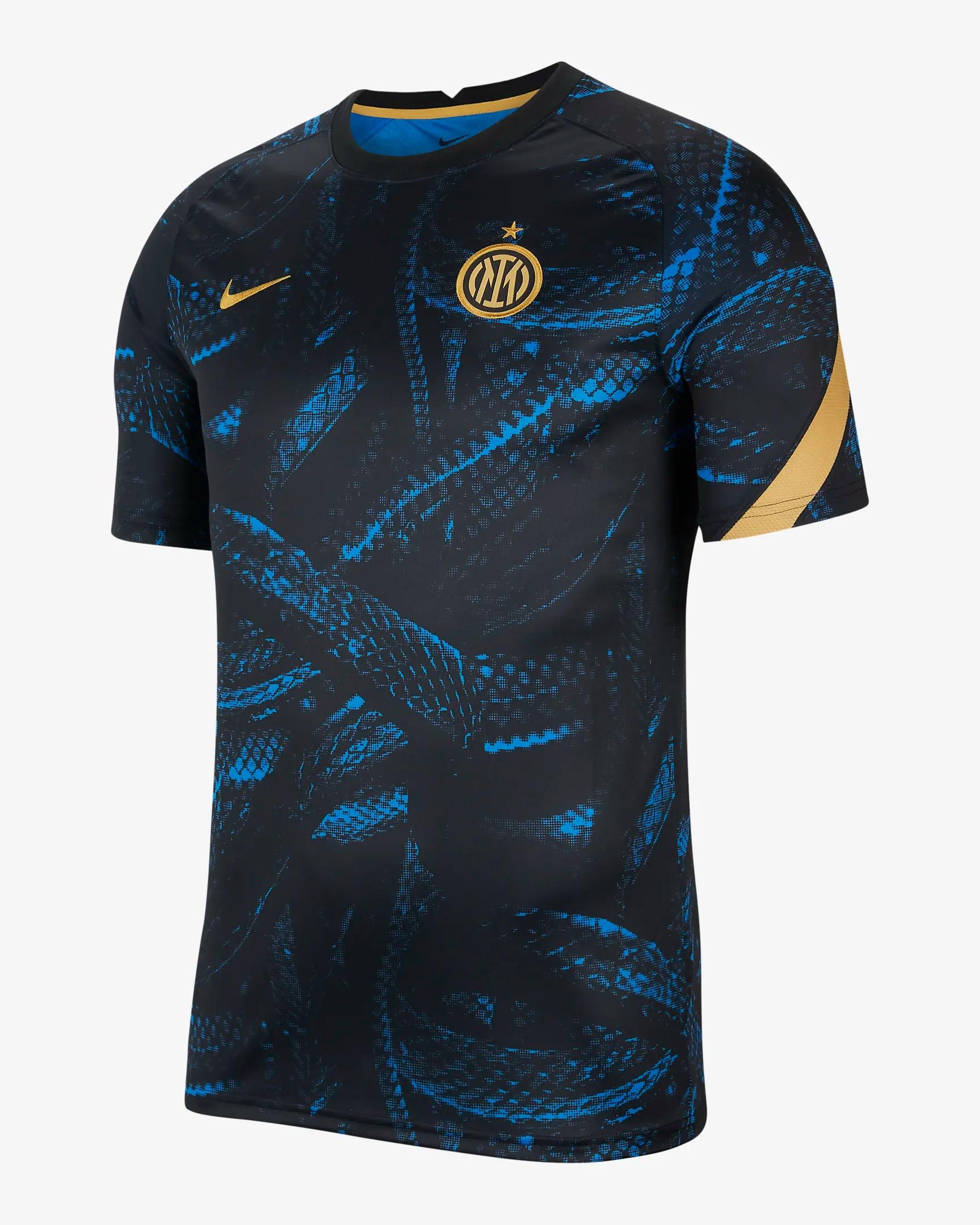 t shirt nike foot homme design bleu dore