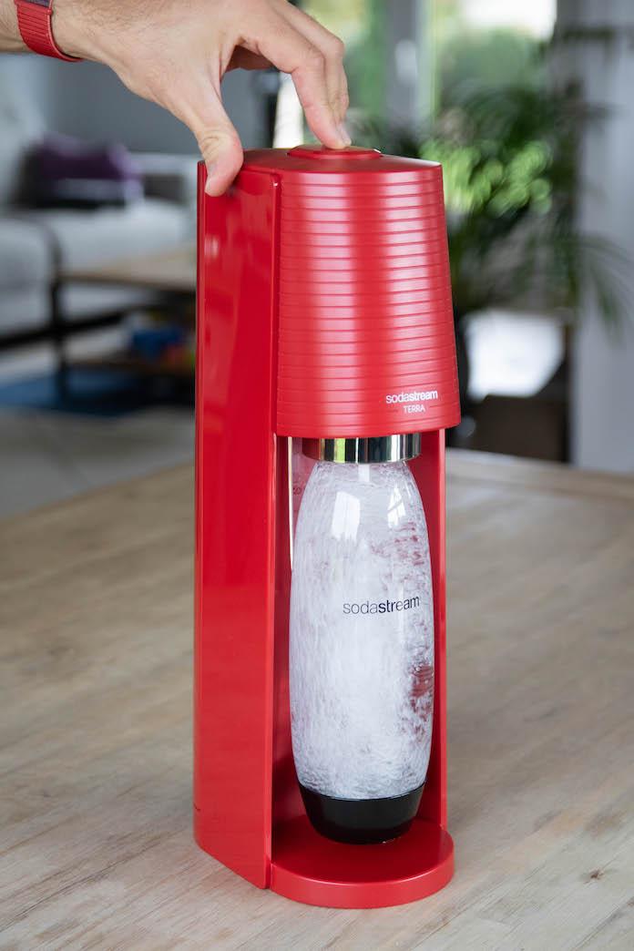 test sodastream terra avis eau petillante